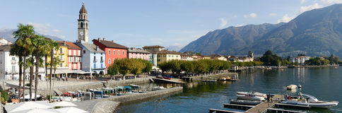 The waterfront of Ascona on Switzerland Stock Photo