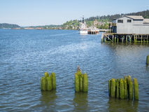 Waterfront, Astoria, Oregon Royalty Free Stock Photos