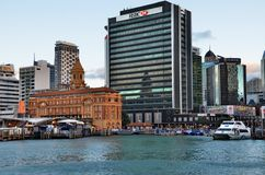 Waterfront in Auckland Royalty Free Stock Photos