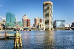 Waterfront of Baltimore and Blue Sky royalty free stock image