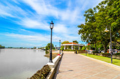 Waterfront Bang Pakong river. In chachoengsao Thailand Stock Photography