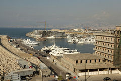Waterfront, Beirut. A view looking out over Waterfront, Beirut Royalty Free Stock Image