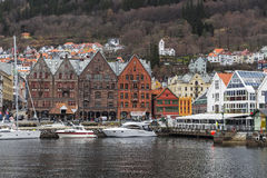 The waterfront in Bergen Royalty Free Stock Image