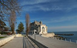 Waterfront at the Black Sea in Constanta City ,Romania Royalty Free Stock Photos