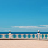 Waterfront and the blue sky and sea royalty free stock photography