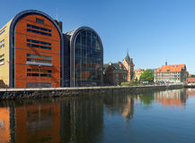Waterfront of Brda in Bydgoszcz Stock Photography