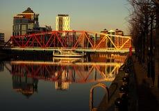 Waterfront Bridge Stock Images