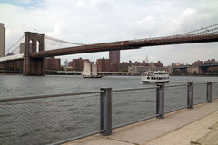 Waterfront at Brooklyn Bridge Park New York USA Royalty Free Stock Photos