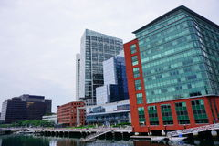 Boston waterfront building Stock Image