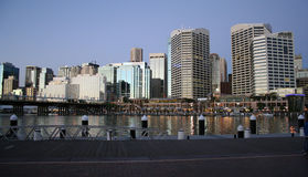 Darling Harbour, Sydney, Australia. Darling Harbour waterfront at sunset, Sydney, Australia Royalty Free Stock Photo