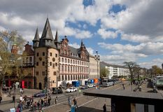 Waterfront buildings in Frankfurt -  Museum of history in Frankfurt Stock Photography