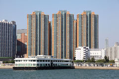Waterfront buildings in Hong Kong Royalty Free Stock Photography