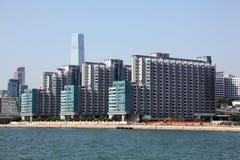 Waterfront buildings in Hong Kong Stock Image