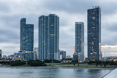 Waterfront buildings in Miami Royalty Free Stock Photography