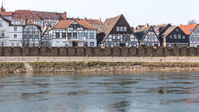 Waterfront buildings minden germany Royalty Free Stock Photo