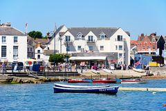 Waterfront buildings, Swanage. Stock Image