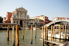 Waterfront buildings Venice Royalty Free Stock Images