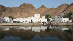 Waterfront buldings in Muttrah, Oman Royalty Free Stock Photo