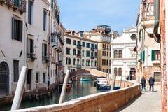 Waterfront of canal Rio del la Pleta in Venice Stock Images
