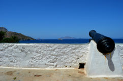 Waterfront Cannon Stock Image