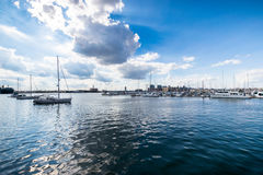Waterfront in Canton in Batimore, Maryland.  Stock Images