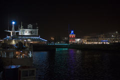 Waterfront Cape Town at night Royalty Free Stock Photography