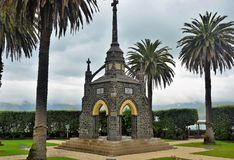 Akaroa Cenotaph, New Zealand. Waterfront cenotaph in Akaroa, Banks Peninsula, New Zealand. Originally a French settlement. Cenotaph remembrance first world war royalty free stock photo