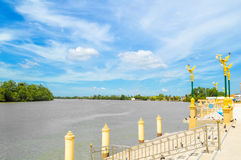 Waterfront in Chachoengsao city Stock Image