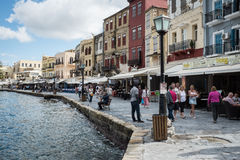 Waterfront at Chania Stock Images