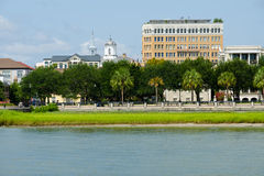 Waterfront  in Charleston, SC. Waterfront park and skyline in Charleston, SC Stock Photography