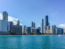 Waterfront at Chicago Royalty Free Stock Images