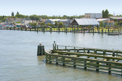 Waterfront in Chincoteague, Virginia Royalty Free Stock Photo