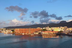 Waterfront of city Port Louis, Mauritius Royalty Free Stock Image