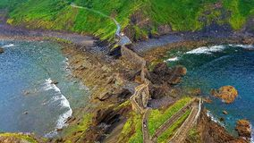 Waterfront cliffs, San Juan del Gazteluatxe, Spain Stock Image