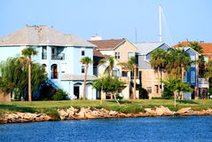 Waterfront Community. A typical waterfront community on the coast of Texas Royalty Free Stock Images