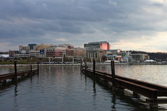 Waterfront National Harbor DC at Dusk Stock Photos