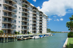Waterfront condo living Stock Image