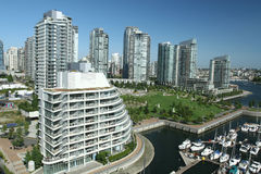 Waterfront Condominiums Royalty Free Stock Photos