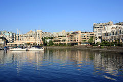 Waterfront Condominiums And Marina Stock Image