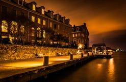 Waterfront condominiums and promenade along the Potomac River at Stock Image