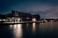 Waterfront condominiums and promenade along the Potomac River at Stock Photos