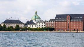 Waterfront in Copenhagen city in autumn Stock Images