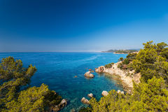 Waterfront costa brava Stock Image