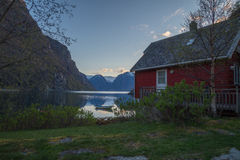 Waterfront Cottage with nice panorama view Stock Images