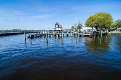 Waterfront downtown of edenton royalty free stock photo
