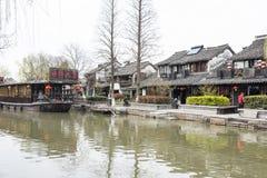 Waterfront dwellers restaurant. This photo was taken in Xitang Town, Jiaxing city,Zhejiang province,china Stock Image
