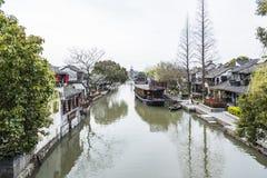 Waterfront dwellers restaurant. This photo was taken in Xitang Town, Jiaxing city,Zhejiang province,china Royalty Free Stock Photos