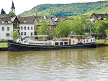 Waterfront Ellenz Poltersdorf village on Moselle Royalty Free Stock Photo