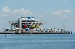 Waterfront entertainment complex. Waterfront pier with entertainment and shopping in Florida, St Petersburg Stock Photography