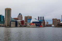 Waterfront of Federal Hill Baltimore, Maryland during Winter.  stock photos